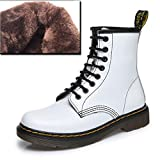 Cargadores del Tobillo de Las Mujeres de Cuero Genuino Zapatos de Invierno Seguridad en el Trabajo sólido de Color Botas de Martin