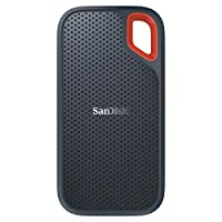 SanDisk Extreme Portable SSD 2TB with usb-c to usb-A adapter