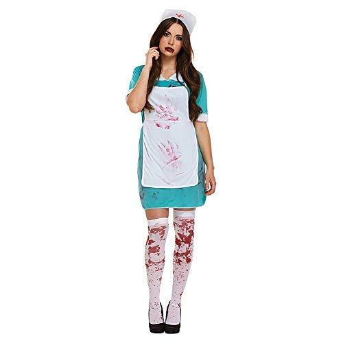 LADIES ZOMBIE NURSE BLOODY HALLOWEEN FANCY DRESS COSTUME OUTFIT THE WALKING DEAD SCRUBS CHEAP 00337 by Henbrandt
