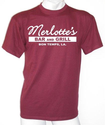 True Blood Inspiriert Merlotte´s T-shirt Bordeaux