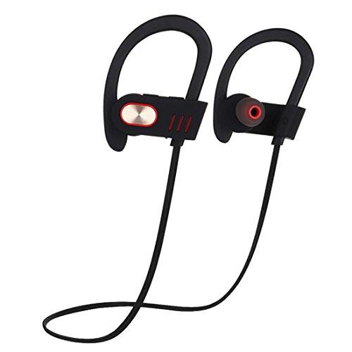 Joyeer Bluetooth Ohr Haken Kopfhörer mit Mic Profi Sport Musik Headset Wireless Schweißsichere Geräusche Abbrechen Kopfhörer für Smartphones , gold