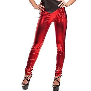 Carnaval 03.298 - Mallas, estiramiento Tela Lucido, en el Sobre, un tamaño, Rojo