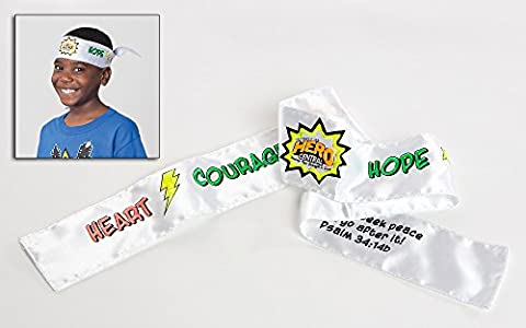 Vacation Bible School 2017 Vbs Hero Central Color-your-own Tie-on Headbands: Discover Your Strength in God! - Package of 12