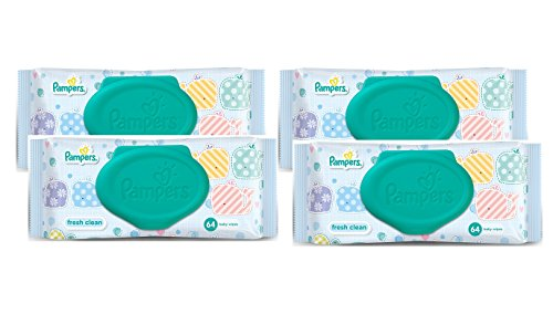 Pampers Fresh Clean Baby Wipes Combo Pack Of 4pcs (Per Pcs 64 Wipes) (168mm x 144mm)