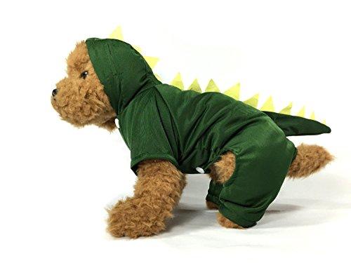 TheDogWear.com Dunkelgrün Dinosaurier Hund Kostüm mit Kapuze, XL, Grün