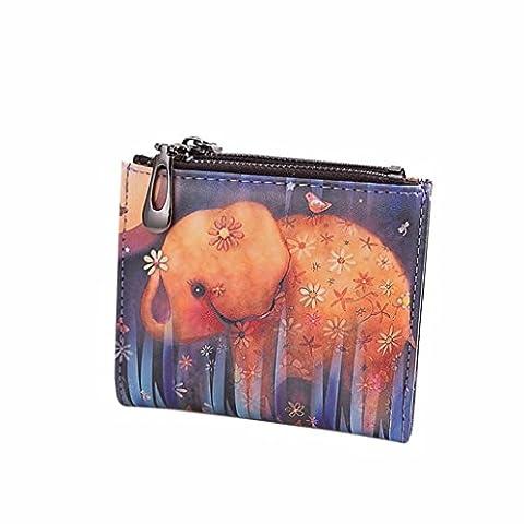 Porte Monnaie Longchamp - Ouneed® Femmes Vintage Elephant Porte-monnaie Clip court