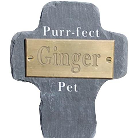 Green Key Casa Giardino e Targa commemorativa per il Celtic a forma di croce compagno animale Segno Pet Purr-fect