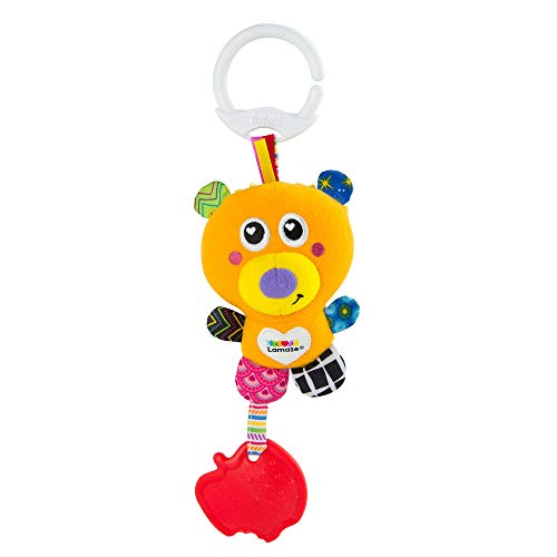 Lamaze Baby Spielzeug Mini Clip & Go Basha der Bär - Stoffspielzeug Kleinkindspielzeug - Greifling Anhänger zur Stärkung der Eltern-Kind-Beziehung - für Babies und Kleinkinder ab 0+ Monaten