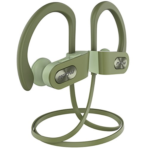 Mpow Flame Bluetooth Kopfhörer, IPX7 Wasserdicht Sportkopfhörer Joggen Bluetooth 4.1, 7-10 Stunden Spielzeit/Stereo Bass/CVC 6.0 Noise Cancelling, Sport Kopfhörer mit Mikrofon für iPhone Android Bass-stereo-kopfhörer