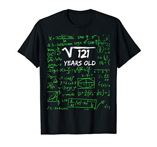 Quadratische Wurzel von 121 | 11. Geburtstag, 11 Jahre altes T-Shirt -