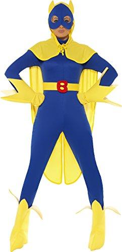 aman Kostüm, Catsuit, Maske, Umhang Handschuhe und Überstiefel, Größe: M, 34067 (Bananaman Kostüm)
