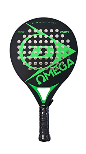 Dunlop OMEGA - Pala de pádel 38mm, 2017, nivel iniciación, color verde