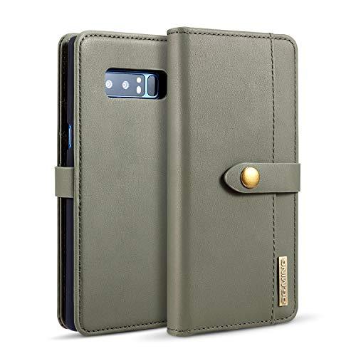Exquisite Handyhülle aus Leder Pu Leder flip Brieftasche case mit kartenhalter Tasche Telefon Abdeckung für Samsung Note 8 (Color : Green) - Kartenhalter Telefon-abdeckung