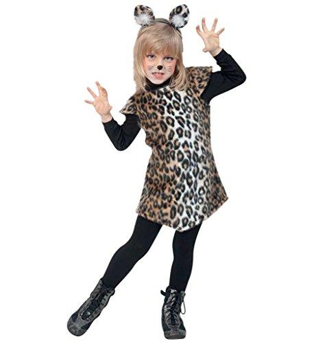 Katze Leopard Katzenkostüm Wildkatze Kätzchen Gr 104 - 128 (128) ()