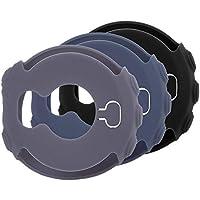 Mwoot 3 Unidades Funda para Garmin Fenix 5X y Garmin Fenix 5X Plus, Anti-caída Silicona Carcasas para Garmin Fenix 5X (Plus) - Negro/Gris / Cian