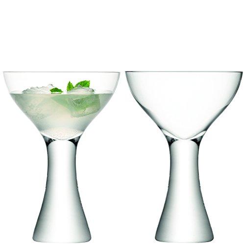 LSA Elina Cocktailgläser, 350 ml, 2 Stück/35cl Martinigläser, Gläser Stem Martini Glas