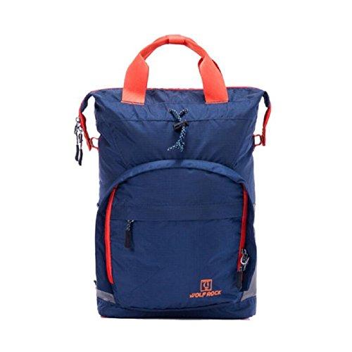 ZC&J Zaino multifunzionale sportivo all'aperto, borsa, capacità 25L, poliestere impermeabile, resistente all'usura, guida all'aperto, zaino da campeggio,light Grey,25L Navy blue