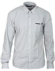 SELECTED HOMME Herren Hemd INVENTION Shirt Langarm Kent Gestreift Brusttasche