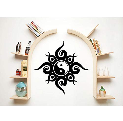 Simple Designed Wall Stickers About Chinese Ying Yang Religious Series Decorative Art Wall Decal Home Rooms Special Decor57x57cm