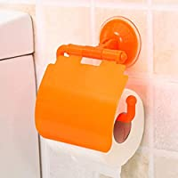 7y/dy/ Advanced Toilet Tissue Holder Rack With Suction Cup For Roll Stand Bathroom Rack For Toilet Paper(None orange)