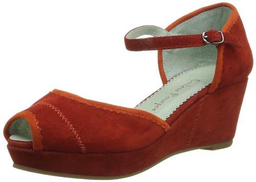 Couleur Pourpre  768,  Sandali donna Rosso Rouge (Corail-Orange) 37