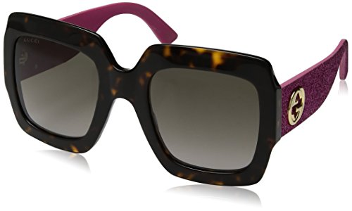 Gucci Damen GG0102S 003 Sonnenbrille, Braun (Avana/Brown), 54