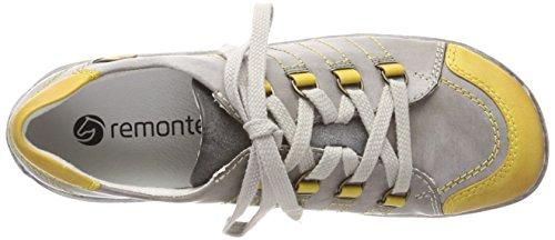 Remonte D3810, Scarpe Stringate Derby Donna Grigio (Yellow/basalt/asphalt)