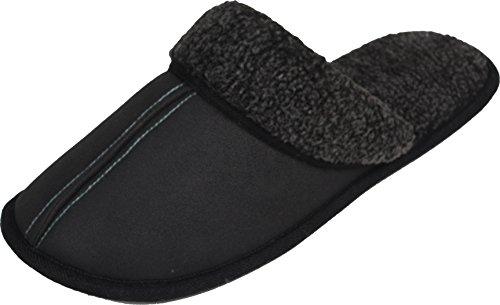 luxehome hommes anziehen polystyrène pour intérieur/extérieur Fluff Chaussures/pantoufles (1–05) Gris