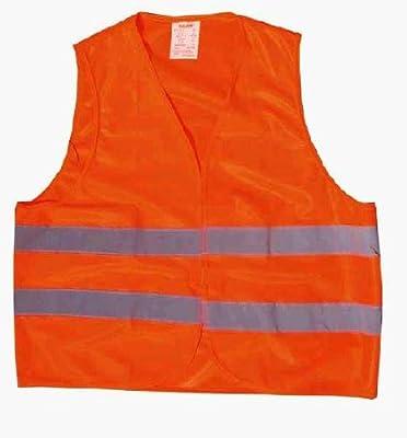 Warnweste, orange, knitterfrei, waschbar, Standardgröße