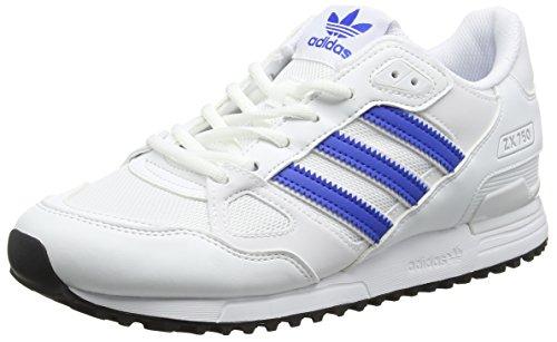 adidas Herren ZX 750 Sneakers, Elfenbein (Ftwr White / Blue / Core Black), 42 EU