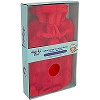 Preisvergleich für Night Owl Gummi kunstfellbezug und Geschenk-Box Wärmflasche, Rot, 2Liter