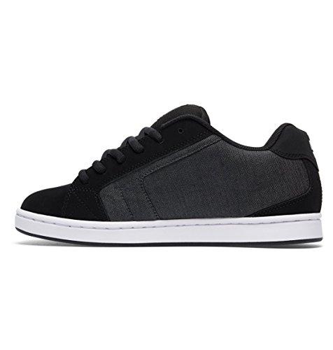 DC NET SEXSSK Herren Sneakers Gris - Black Destroy Wash