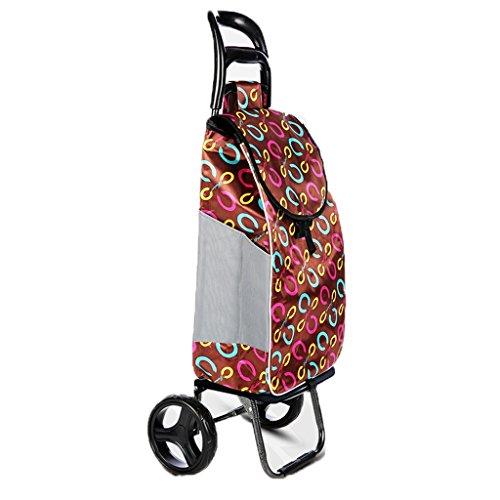 XF Einkaufstrolleys Einkaufswagen Kaufen Lebensmittelwagen Kleiner Wagen Dicke, wasserdichte Tasche Stummlaufrad Tragbare, zusammenklappbare, abnehmbare, alte Handwagen-Home-Trolley-Anhänger (´。•ᵕ•。`)