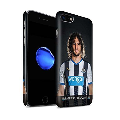 Offiziell Newcastle United FC Hülle / Matte Snap-On Case für Apple iPhone 7 / Mbemba Muster / NUFC Fussballspieler 15/16 Kollektion Coloccini