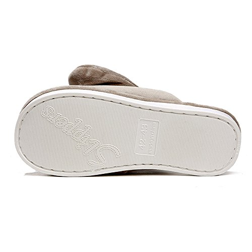 ... Pantofole Lekuni Coral House Velluto Pantofole Calde Pantofole  Coccolose Ciabatte Antiscivolo Push-flop Con Faccia 424e2a8df3f