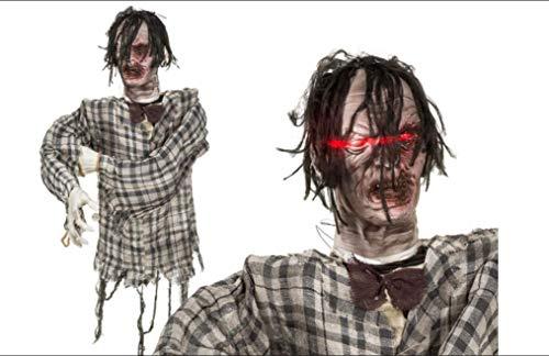 EuroDiscount Halloween Figur Zombie gruselig XL143 cm mit LED Sound und Bewegung 1 Stück