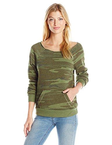 Alternative Women's Maniac Printed Eco-Fleece Sweatshirt, Camo, Small
