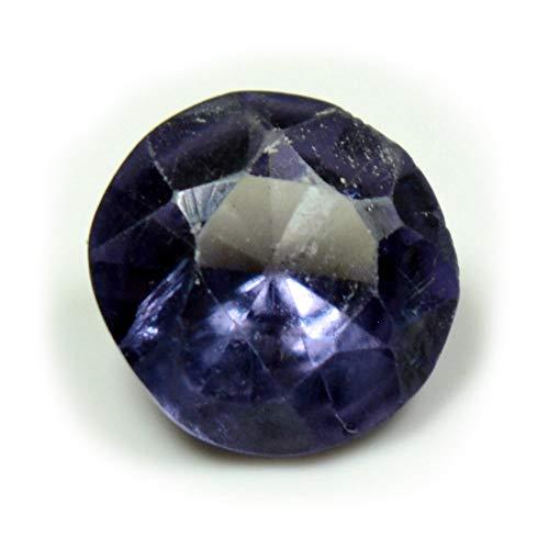 Caratyogi, pietra di alessandrite da 3 ct, per la creazione di gioielli, sfaccettata, multicolore, di forma rotonda