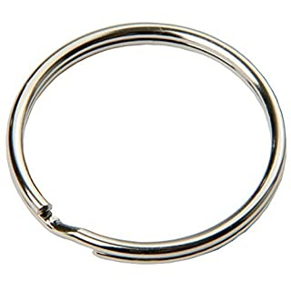 FD-Workstuff 100pcs 20mm Diameter Polished Steel Key Rings Easy Bend Nickel Plated Steel