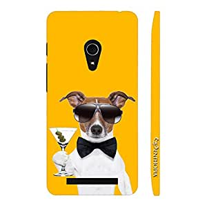Enthopia Designer Hardshell Case DOG BOND MARTINI Back Cover for Asus Zenfone 5
