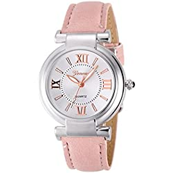 Watch,Alberar Geneva Women Girl Roman Numerals Leather Band Quartz Wrist Watch Bracelet