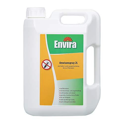 Envira Ameisen-Spray - Anti-Ameisen-Mittel Mit Langzeitwirkung - Geruchlos & Auf Wasserbasis - 2 Liter