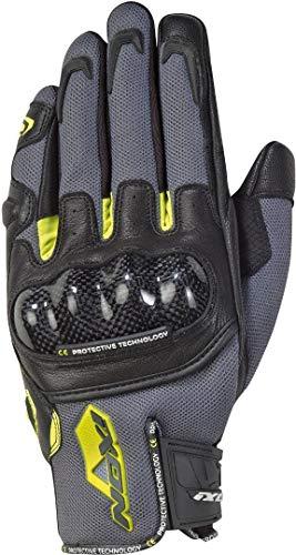 Ixon Guanti da moto Rs Rise Air grigio/nero/giallo chiaro, taglia L