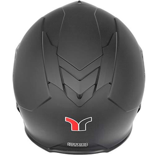 RT-770 Bluetooth Integralhelm Motorradhelm Integral Motorrad Quad Helm rueger, Größe:L (59-60), Farbe:Matt Schwarz - 4