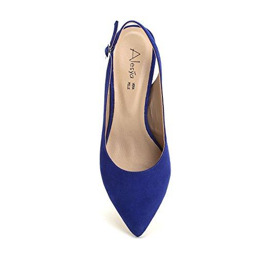 Saltos Aguda Por Ponta amp; Alesya Boots Scarpe Um Ankle E Com Azul Scarpe pBA0q