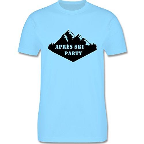 Après Ski - Apres Ski Party - Herren Premium T-Shirt Hellblau