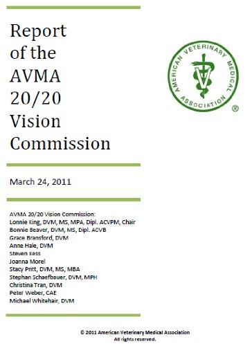 AVMA 20/20 Vision Commission Report (English Edition)
