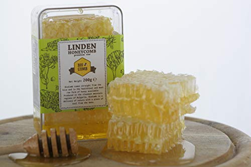BioComb Honigwaben I Imker-Bienenhonig direkt aus dem Bienenstock I Linden Honeycomb 200g -
