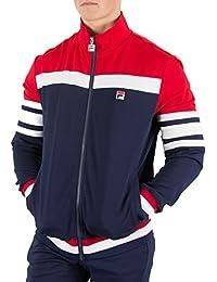 Mens Fila Vintage White Line Courto Peacoat Navy Retro Track Jacket S - 2XL 8c04ca597