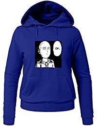 One Punch Man Saitama OK For Ladies Womens Hoodies Sweatshirts Pullover Outlet